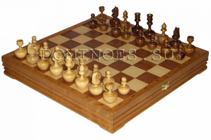 """Игровой набор - шахматы """"Неваляшки"""", шашки, карты, домино - 42х42 см (высота короля 3,00"""")"""