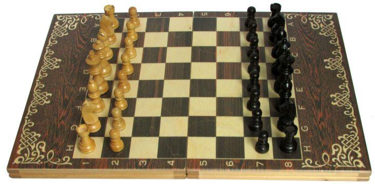 """Шахматы классические малые деревянные (высота короля 3,00"""")"""