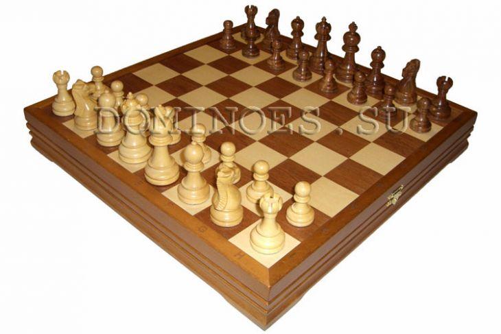 """Шахматы классические стандартные деревянные утяжеленные (высота короля 3,50"""")"""