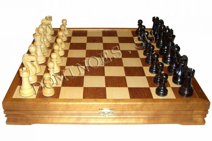 """Шахматы классические стандартные деревянные утяжеленные (высота короля 3,75"""")"""