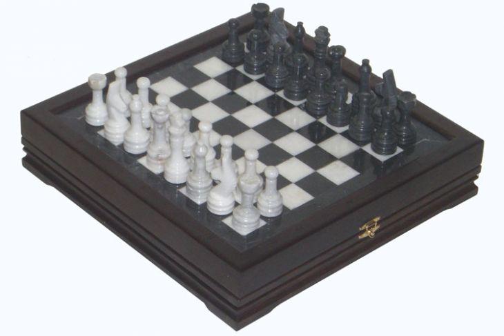 """Шахматы каменные малые (высота короля 3,10"""")"""