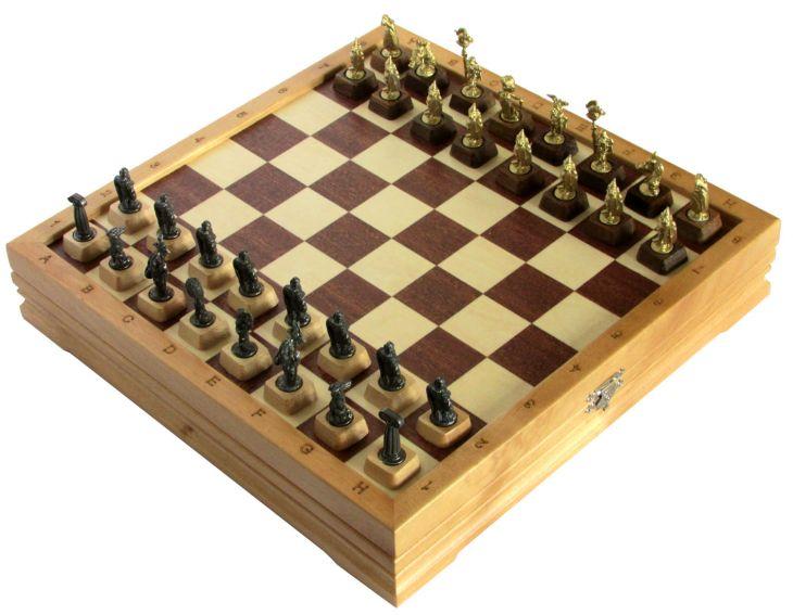 """Шахматы малые """"Галлы-Римляне"""" черненые"""