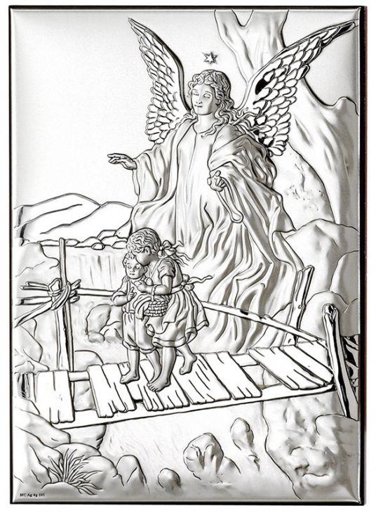 """Серебряная миниатюра """"Ангел Хранитель"""" (Италия)"""